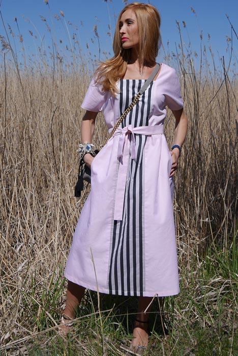 -50% Roosa puuvillane kleit (XS-S)