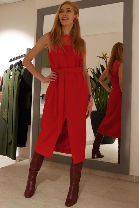 Pidulik punane kleit (S)