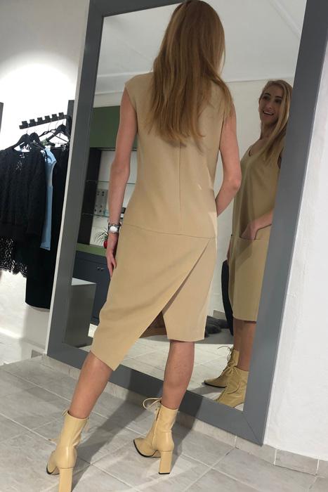 Camel nurgaga kleit (XS)
